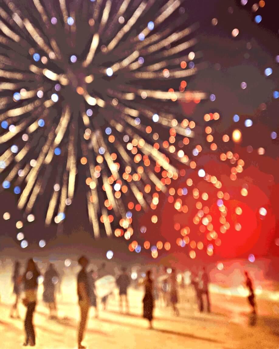 Ein Bild von einem Feuerwerk.