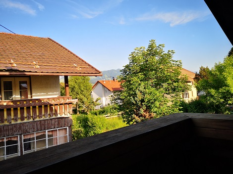 Sommerliche Aussichten von meinem Balkon