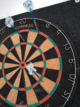 111 Punkte Check-Out Darts Double-Out