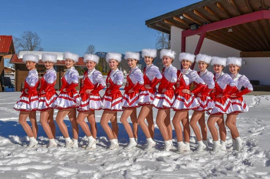 Prinzengarde Schwangau im Schnee