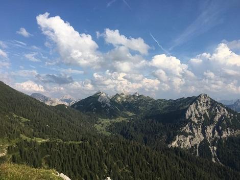 Der Ausblick auf die Tiroler Alpen