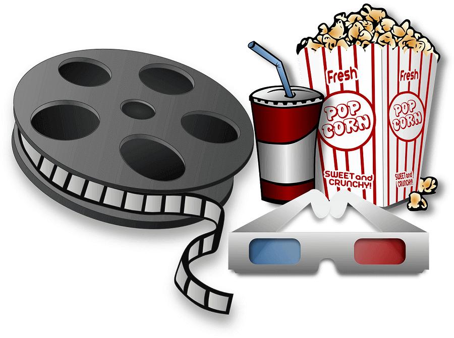 Popcorn und Filmrolle