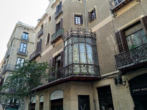 Balkon vom Gebäude in Barcelona