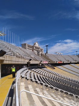 Tribüne im Olympiastadion