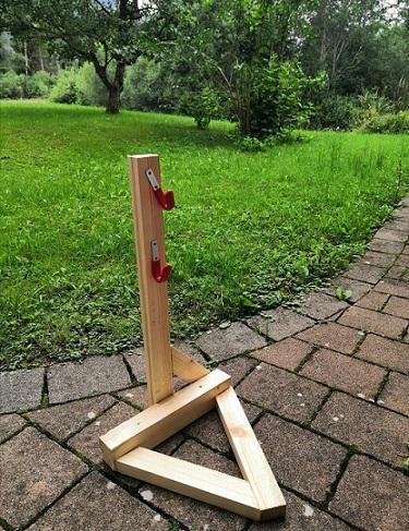 stabiler Bike Stand aus Holz
