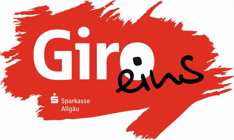 Das Giro eins-Logo der Sparkasse Allgäu