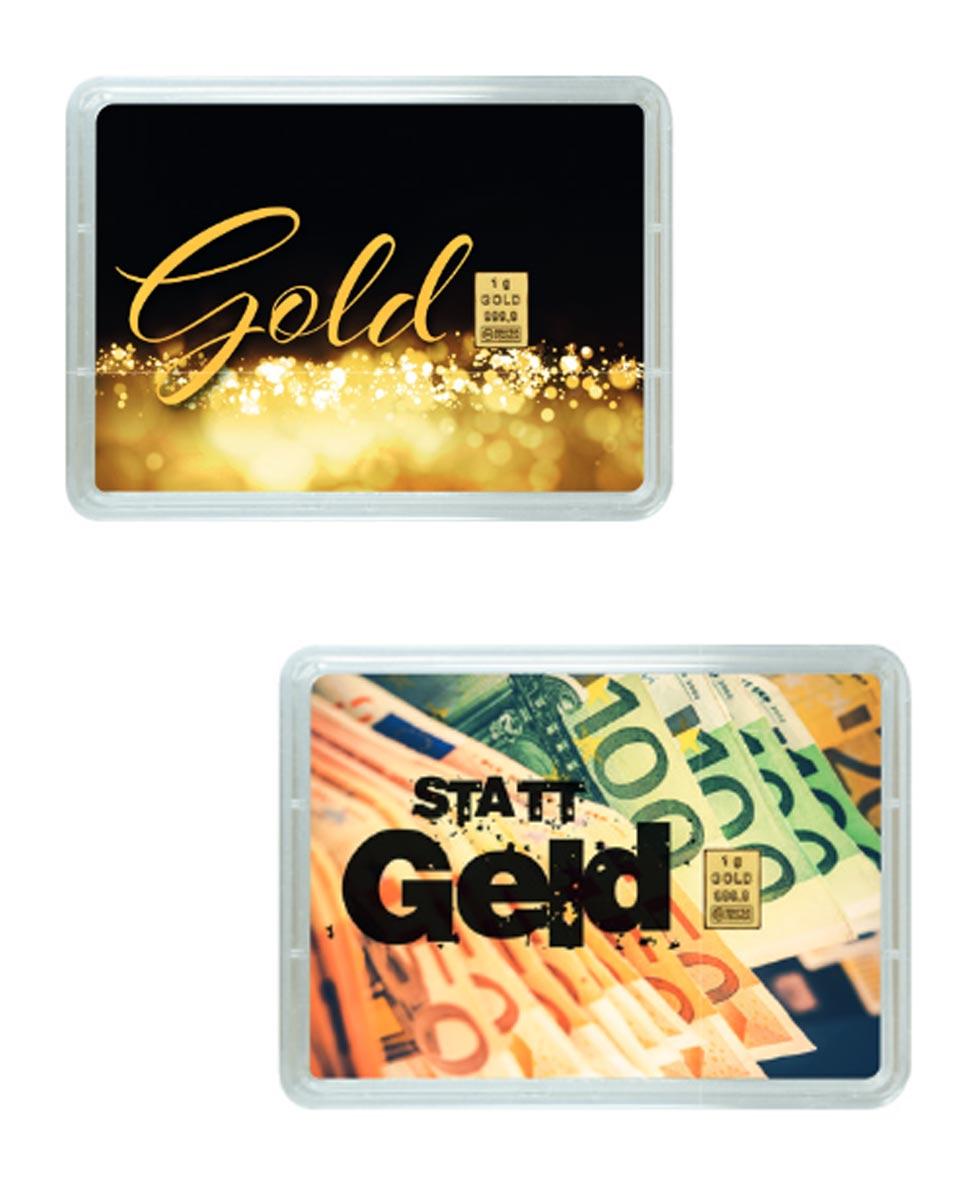 Gold statt Geld verschenken