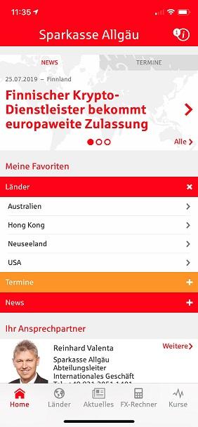 Überblick über die S-weltweit App
