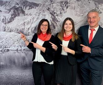 Amelie Gomm, Corinna Kaufmann und Roland Uygur v.l.n.r.