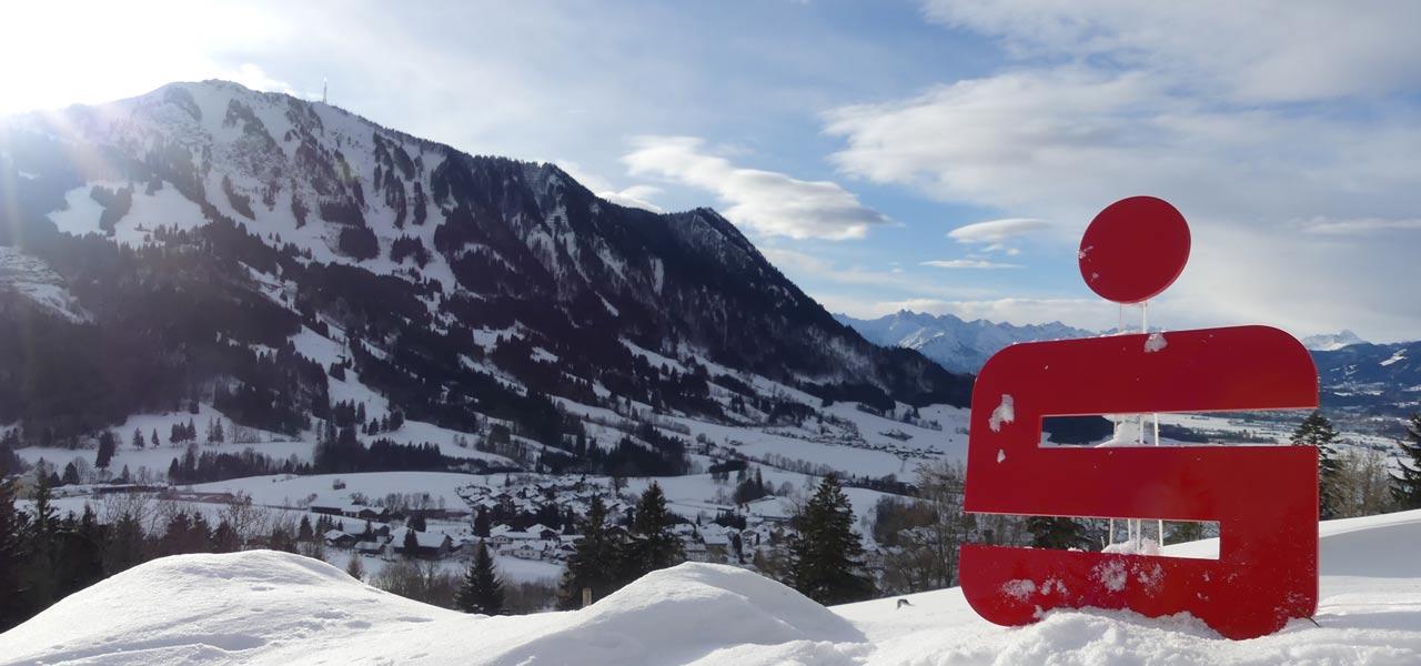 Blick auf den Grünten im Winter - Sparkasse Allgäu