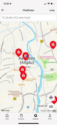 Sparkassen-Filialen in der Nähe von Kempten