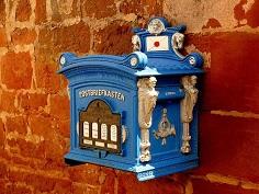 schöner altmodischer Briefkasten