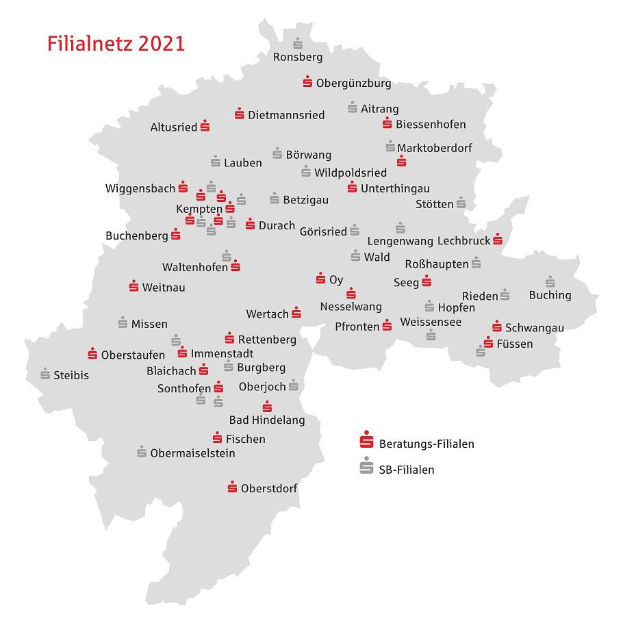 Filialnetz Sparkasse Allgäu