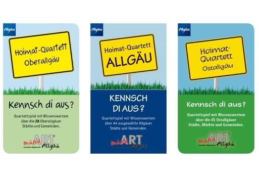 Das Hoimat-Quartett gibt es für das Oberallgäu, Ostallgäu und Allgäu