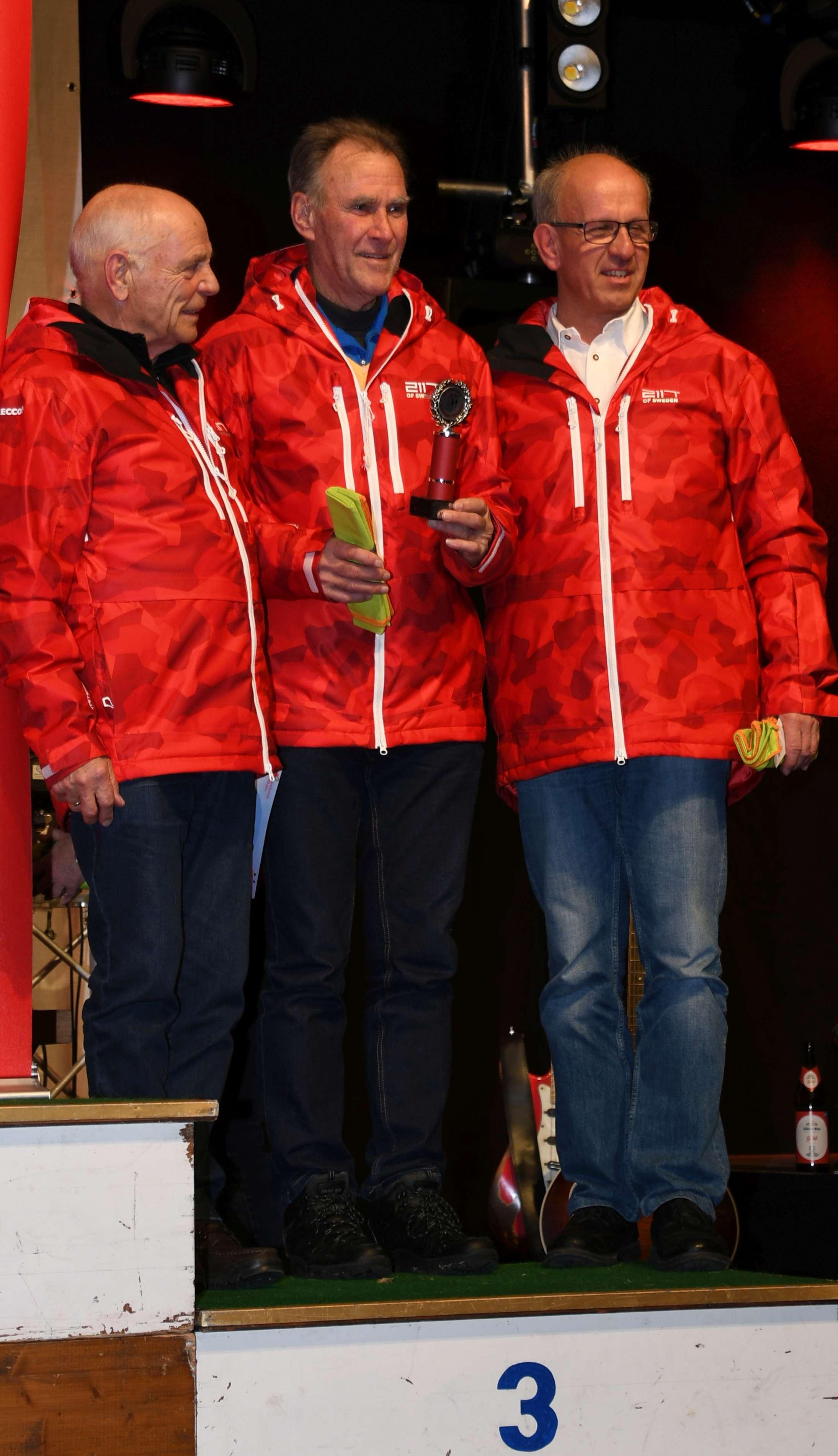Platz 3 für Senioren der Sparkasse Allgäu: Alois Haberstock, Dieter Müller und Josef Rothärmel (v.l.)