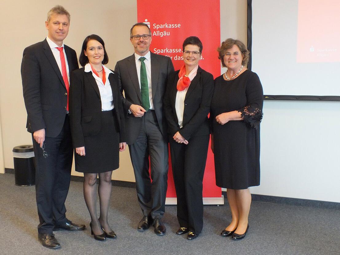 Reinhard Valenta, Sabine Enzensberger, Dr. Jürgen Michels, Ulrike Dolp, Gabriele Louis - Sparkasse Allgäu
