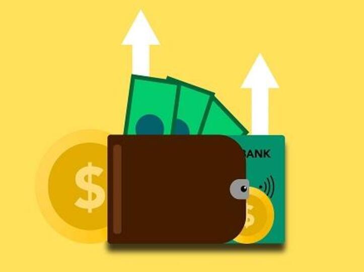Geldbeutel, Bargeld und Bankkarte