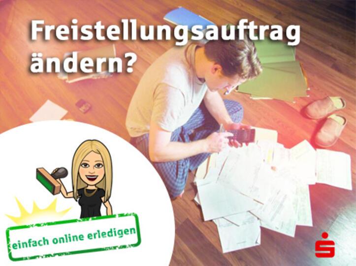 Freistellungsauftrag online ändern - Sparkasse