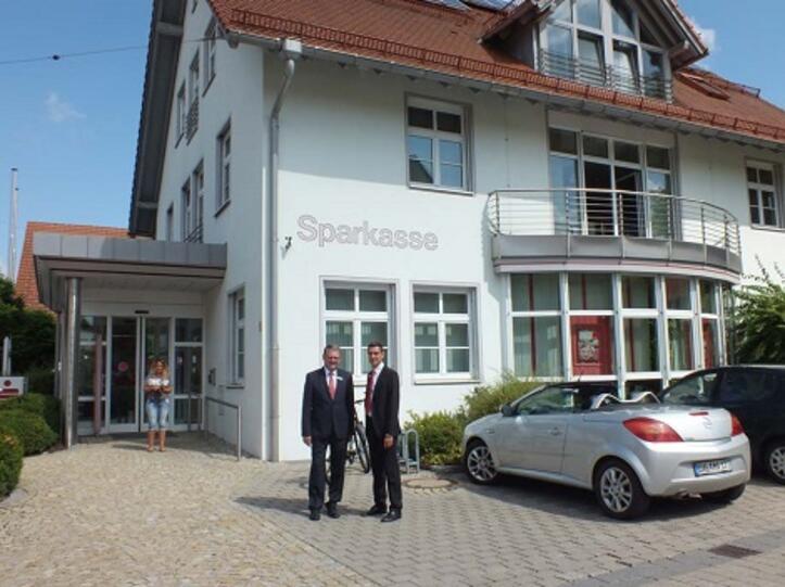 Filialleiterwechsel bei der Sparkasse in Obergünzburg